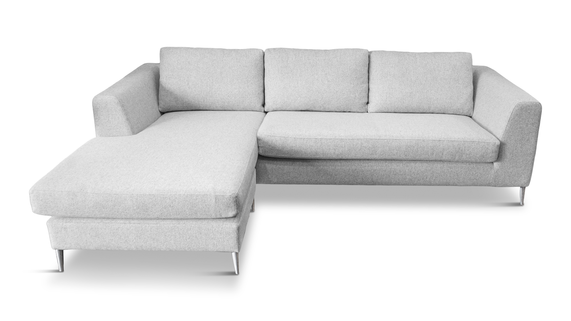Big Save Furniture Akitio Chaise Lounge made from wool fill and clad in wool fibre